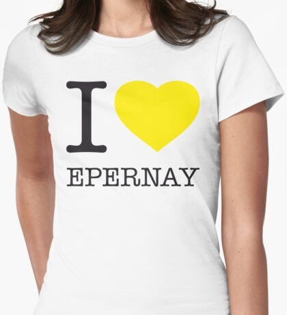 I ♥ EPERNAY Womens Fitted T-Shirt