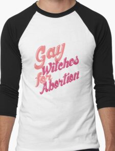 Gay Witches for Abortion Men's Baseball ¾ T-Shirt