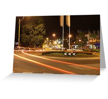 Night-time in Drouin Greeting Card