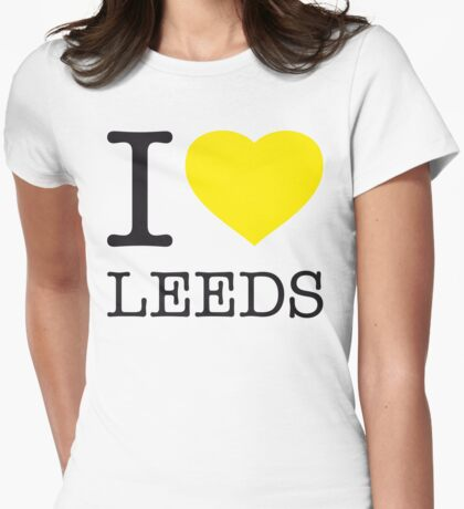 I ♥ LEEDS Womens Fitted T-Shirt