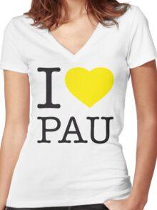 I ♥ PAU Women's Fitted V-Neck T-Shirt