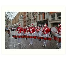 New Year's Day Parade leon high school band London 2014 Art Print