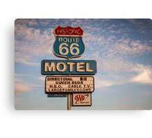 66 Motel Canvas Print
