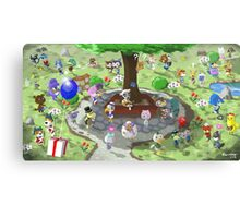 Welcome to Animal Crossing Canvas Print