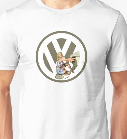 Volkswagen Pin-Up Damsel in Distress (taupe) Unisex T-Shirt
