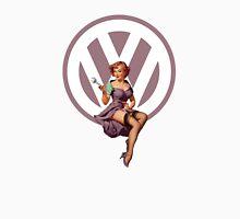 Volkswagen Pin-Up Wrenching Wanda (light purple) Unisex T-Shirt