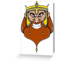 Grinning Viking King of the North Greeting Card