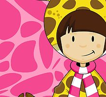Cute Cartoon Giraffe Girl by MurphyCreative
