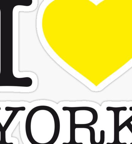 I ♥ YORK Sticker