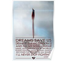 Superman Inspirational Poster Poster