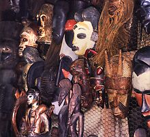 Lekki Masks No 1 by Wayne King