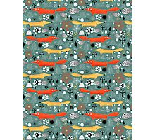 pattern fox in the woods Photographic Print