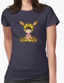 Cute Cartoon Giraffe Girl Pattern Womens Fitted T-Shirt