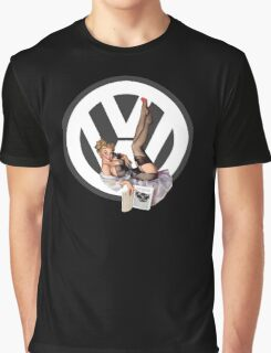 Volkswagen Pin-Up Chatty Cathy (gray) Graphic T-Shirt