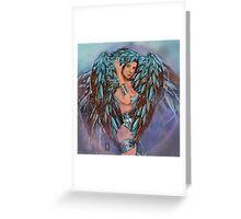 THE DIGITAL VINTAGE MECH ANGEL Greeting Card