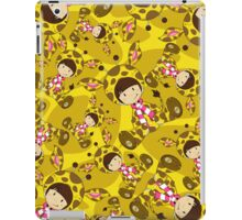 Cute Cartoon Giraffe Girl Pattern iPad Case/Skin