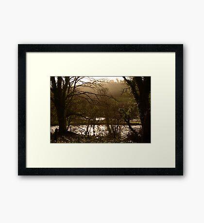 Rainy Day on the Camel Trail Framed Print