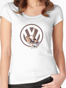 Volkswagen Pin-Up Chatty Cathy (brown) Women's Fitted Scoop T-Shirt