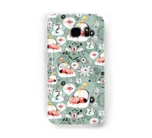 pattern with cats and mushrooms Samsung Galaxy Case/Skin