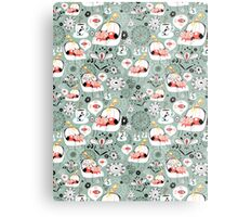 pattern with cats and mushrooms Metal Print