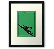 Green Lantern Framed Print