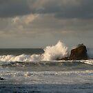 Crashing Waves at Trevone Bay by Samantha Higgs