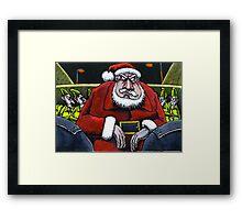 Festive scrape for Santa Framed Print