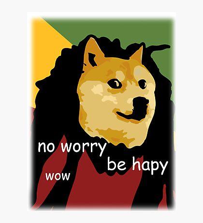 Bob Marley Doge (Transparent Edges) Photographic Print