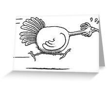 Turkey running Greeting Card