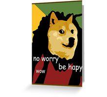 Bob Marley Doge (Framed) Greeting Card