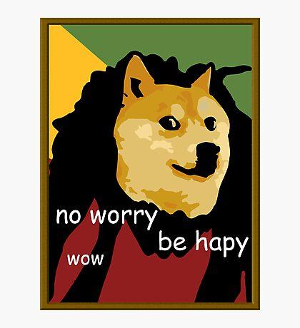 Bob Marley Doge (Framed) Photographic Print