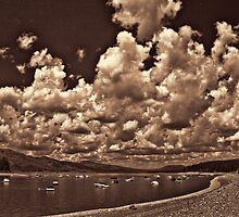 Cloud Parade Over Jackson Lake (B&W) by Brenton Cooper