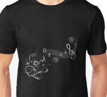 Sweeping Music Notes Unisex T-Shirt