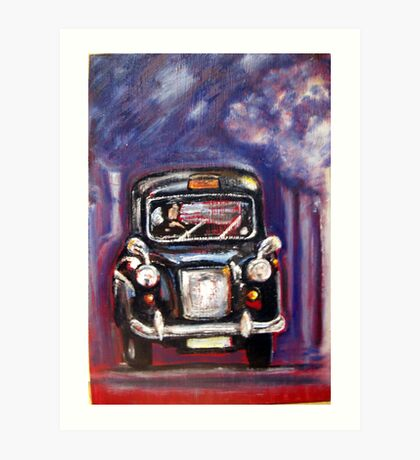 London Taxi  Art Print