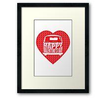 Valentine's Day VW Camper Bay Framed Print