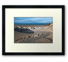 View on the North Sea beach Framed Print