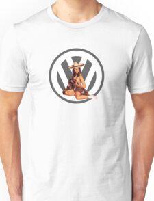 Volkswagen Pin-Up Senorita (gray) Unisex T-Shirt