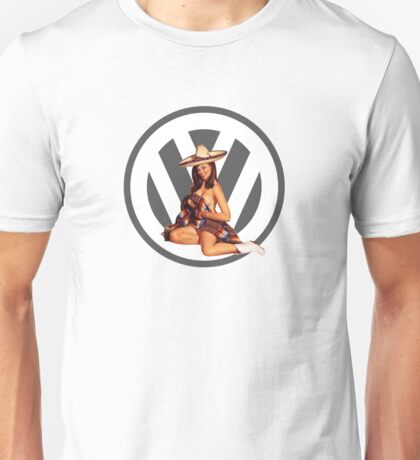 Volkswagen Pin-Up Senorita (gray) Unisex T-Shirt