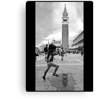 Playing, Venezia Italy Canvas Print
