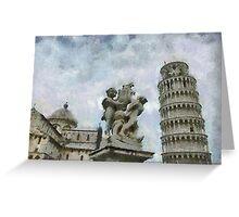 Piazza dei Miracoli, Pisa, Tuscany, Italy Greeting Card