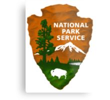 National Park Service Shaded Logo Metal Print