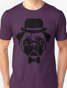 Pug in Bowler Hat and Bow Tie by AiReal Apparel T-Shirt