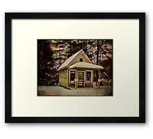 Barber Shop Before Post Office Framed Print