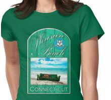 Pleasure Beach, Connecticut Womens Fitted T-Shirt