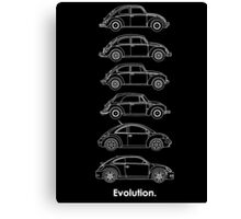 Evolution of the Volkswagen Beetle - for dark tees Canvas Print