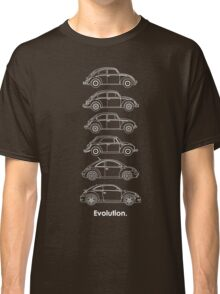 Evolution of the Volkswagen Beetle - for dark tees Classic T-Shirt