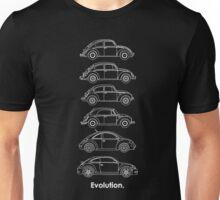 Evolution of the Volkswagen Beetle - for dark tees Unisex T-Shirt