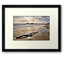 Deserted Beaches ~ Lyme Regis Framed Print