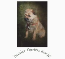 Border Terriers Rock! Kids Tee
