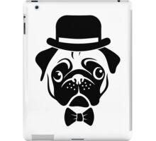Pug in Bowler Hat and Bow Tie by AiReal Apparel iPad Case/Skin